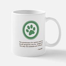 Gandhi Green Paw Mug