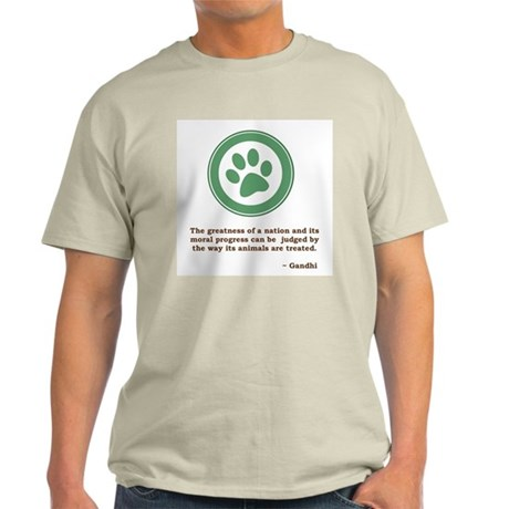 Gandhi Green Paw Light T-Shirt