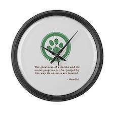 Gandhi Green Paw Large Wall Clock