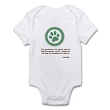 Gandhi Green Paw Infant Bodysuit