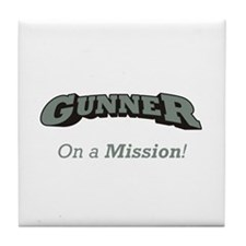 Gunner - On a Mission Tile Coaster