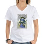 Saito Toshimasa nyudo Dosan Women's V-Neck T-Shirt