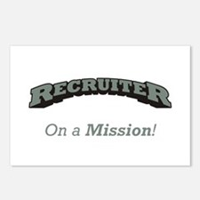 Recruiter - On a Mission Postcards (Package of 8)