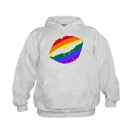 Rainbow Kiss Kids Hoodie