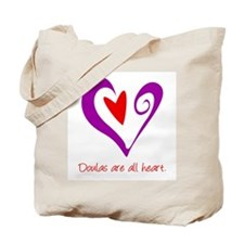 Doulas All Heart Purple Tote Bag