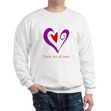 Doulas All Heart Purple Sweatshirt