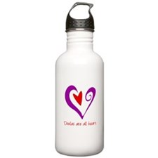 Doulas All Heart Purple Sports Water Bottle