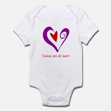 Doulas All Heart Purple Infant Bodysuit