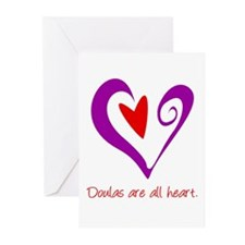 Doulas All Heart Purple Greeting Cards (Pk of 10)