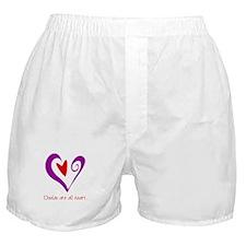 Doulas All Heart Purple Boxer Shorts