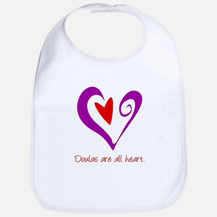 Doulas All Heart Purple Bib