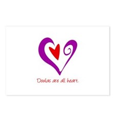 Doulas All Heart Purple Postcards (Package of 8)