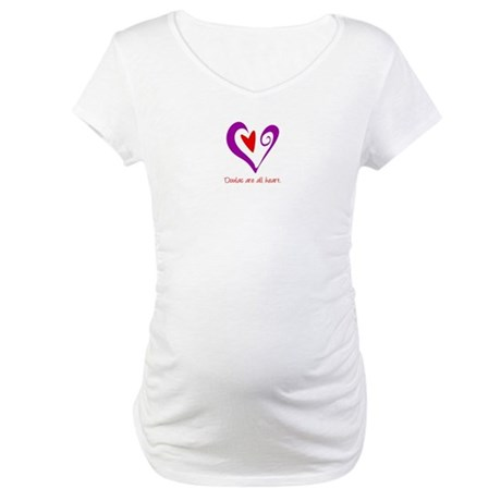 Doulas All Heart Purple Maternity T-Shirt