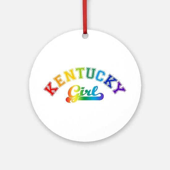Kentucky Girl Ornament (Round)