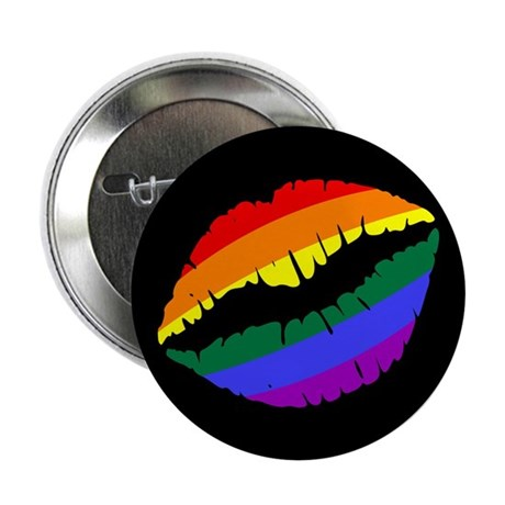 "Rainbow Kiss 2.25"" Button (100 pack)"