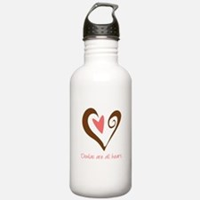 Doulas All Heart Brown Water Bottle