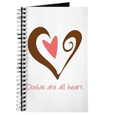 Doulas All Heart Brown Journal