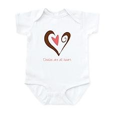 Doulas All Heart Brown Infant Bodysuit