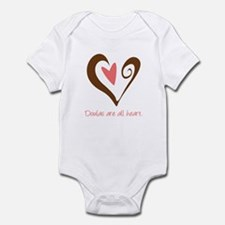 Doulas All Heart Brown Infant Bodysuit