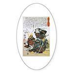 Warrior Saito Uheenotayu Tatsuoki Sticker (Oval)