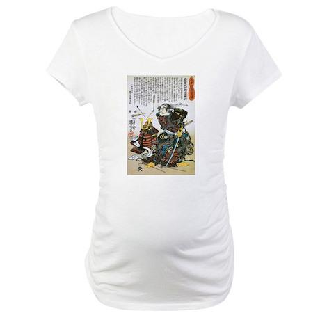 Warrior Saito Uheenotayu Tatsuoki Maternity T-Shir