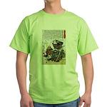 Warrior Saito Uheenotayu Tatsuoki Green T-Shirt