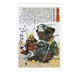Warrior Saito Uheenotayu Tatsuoki Postcards (Packa