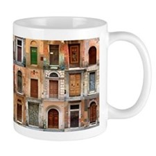 Italian Old Doors Ceramic Small Mugs