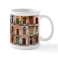 Italian Old Doors Ceramic Small Mugs