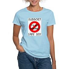 Support Safe Sex Women's Pink T-Shirt