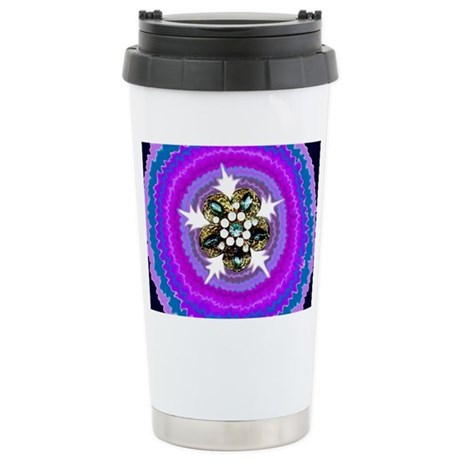 Jeweled Flame Stainless Steel Travel Mug