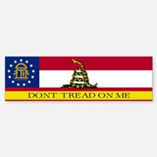 Dont Tread on Me Georgia Flag Bumper Bumper Sticker