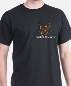 Pocket Rockets Logo 14 T-Shirt Design Front P