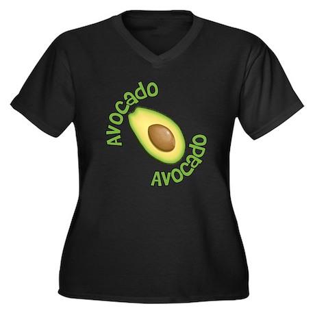 Avocado Avocado Women's Plus Size V-Neck Dark T-Sh
