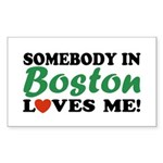 Somebody in Boston Loves Me! Rectangle Sticker