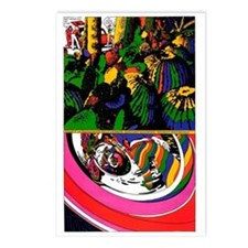 $9.99 Psychedelic PopArt 13 Postcards (8)