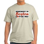 Somebody in Boston Loves Me! Ash Grey T-Shirt