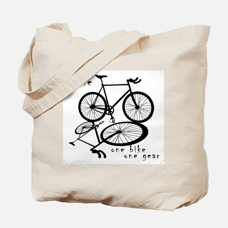 Fixie - one bike one gear Tote Bag