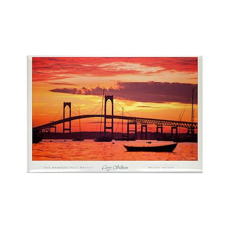 Newport Bridge Rectangle Magnet (10 pack)