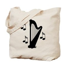 Musical Harp Tote Bag