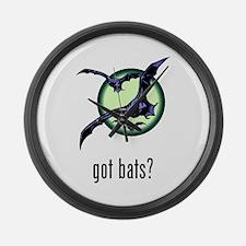 Bats Large Wall Clock