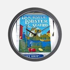 Dockside Lobster and Seafood Wall Clock