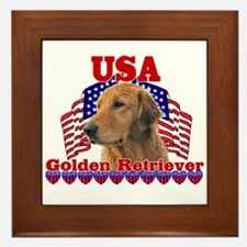 Golden Retriever Gifts Framed Tile