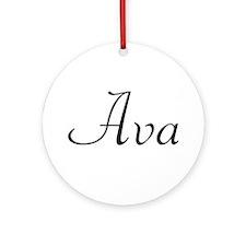 Ava Ornament (Round)