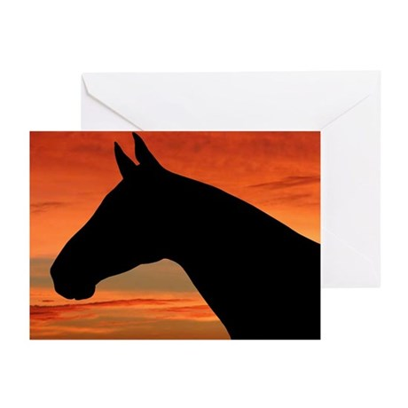 Horse Sunset Portrait Greeting Cards (Package of