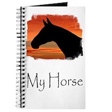 Horse Sunset Portrait Journal