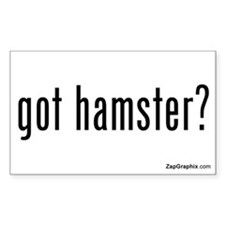 Got Hamster Sticker (Rectangular, White)