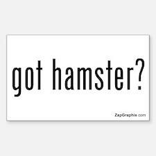 Got Hamster Sticker (Rectangular, White)