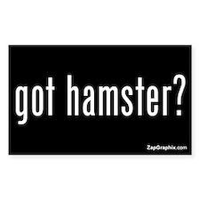Got Hamster Sticker (Rectangular, Black)