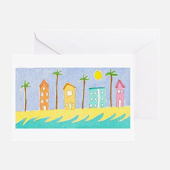 Beach Houses Greeting Card
